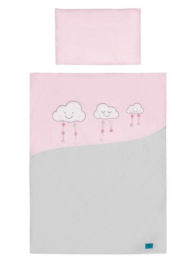 5-dielne posteľné obliečky Belisima Obláčiky 100/135 rúžové