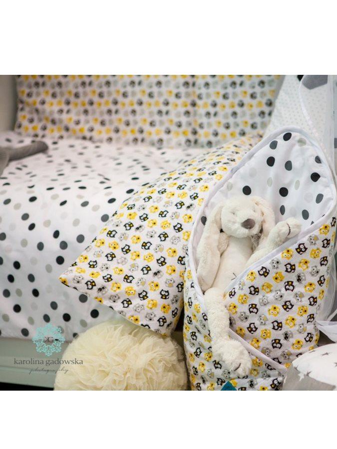 3-dielne posteľné obliečky Belisima Mačiatka 90/120 žlté
