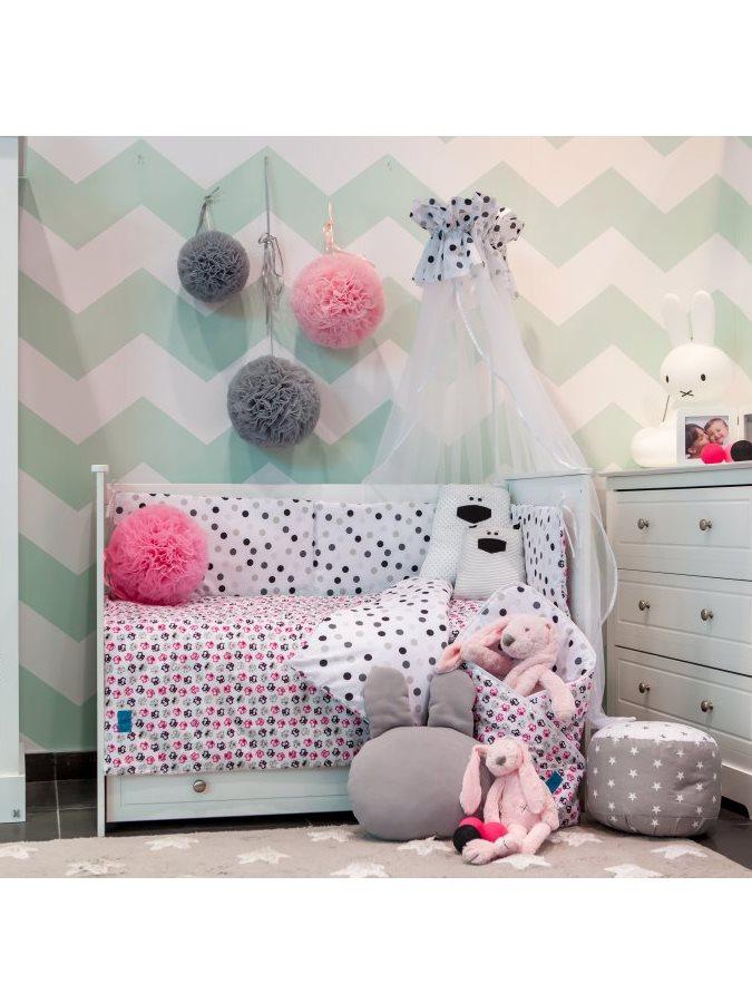 6-dielne posteľné obliečky Belisima Mačiatka 100/135 ružové