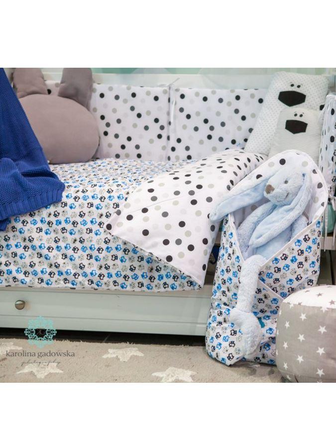 6-dielne posteľné obliečky Belisima Mačiatka 100/135 modré