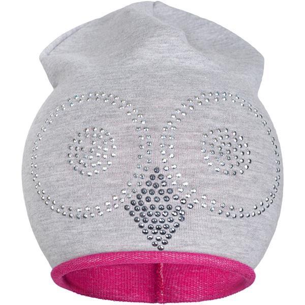 Jarná čiapočka New Baby sova sivo-ružová