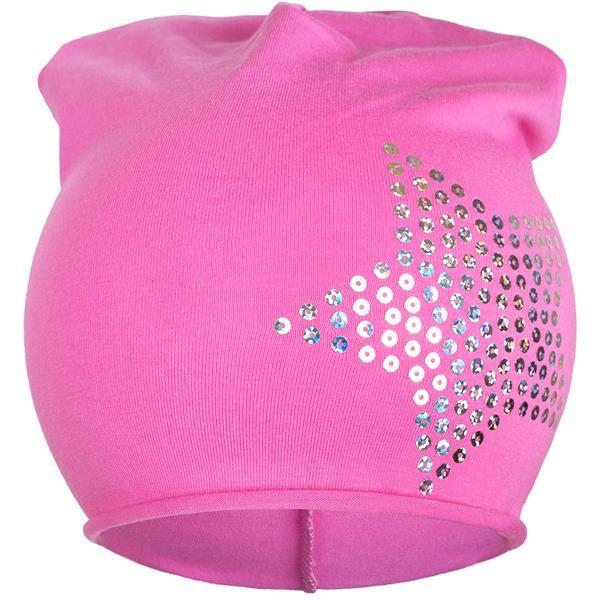 Jarná čiapočka New Baby hviezdička svetlo ružová