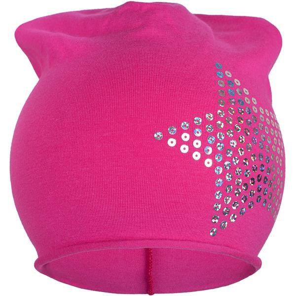 Jarná čiapočka New Baby hviezdička ružová