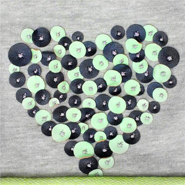 Jarná čiapočka New Baby srdiečko sivo-zelená