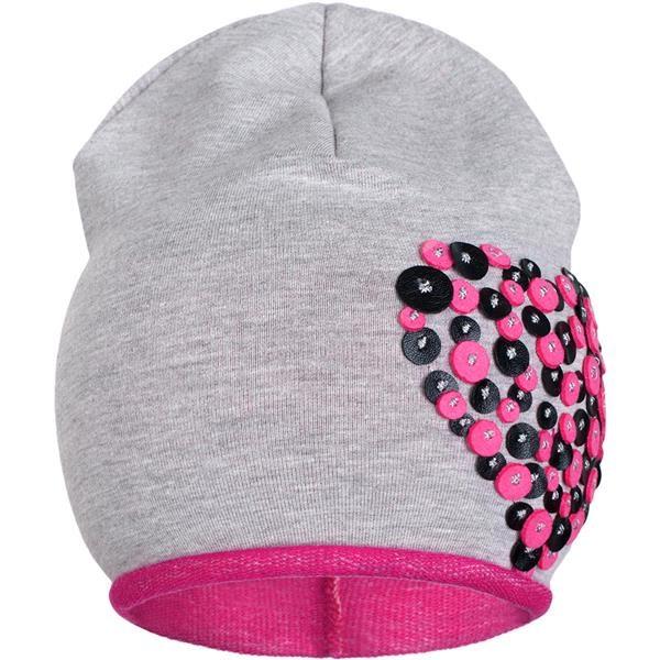 Jarná čiapočka New Baby srdiečko sivo-ružová