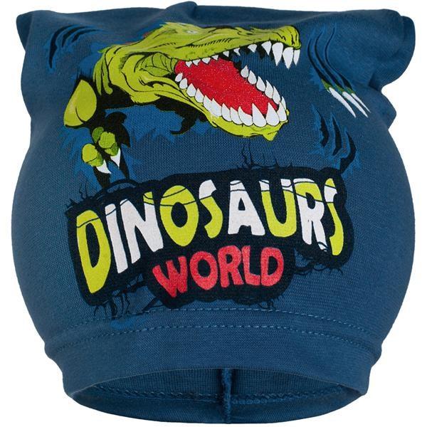 Jarná detská čiapočka New Baby dino modrá