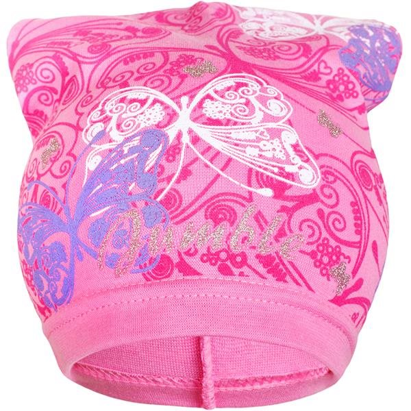 Jarná detská čiapočka New Baby motýlikovia svetlo ružová