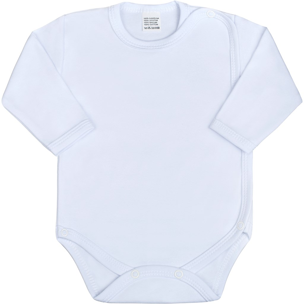Dojčenské body celorozopínacie New Baby Classic bíle