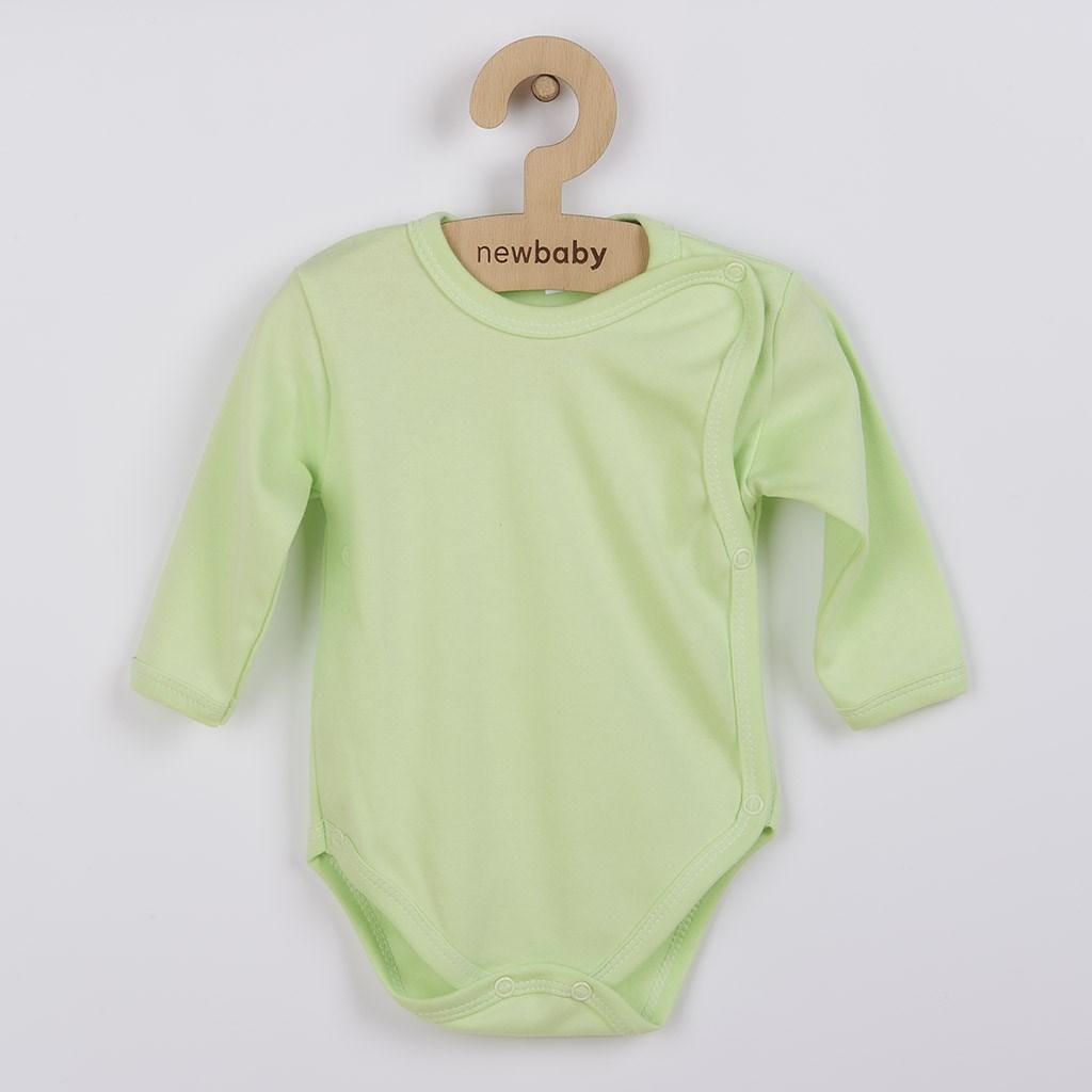 Dojčenské body celorozopínacie New Baby Classic zelené
