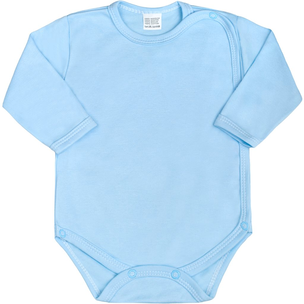 Dojčenské body celorozopínacie New Baby Classic modré