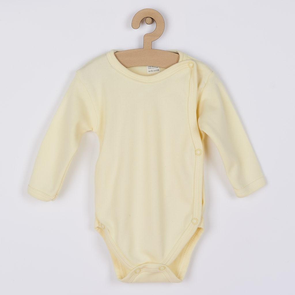 Dojčenské body celorozopínacie New Baby Classic žlté, 62 (3-6m), Žltá