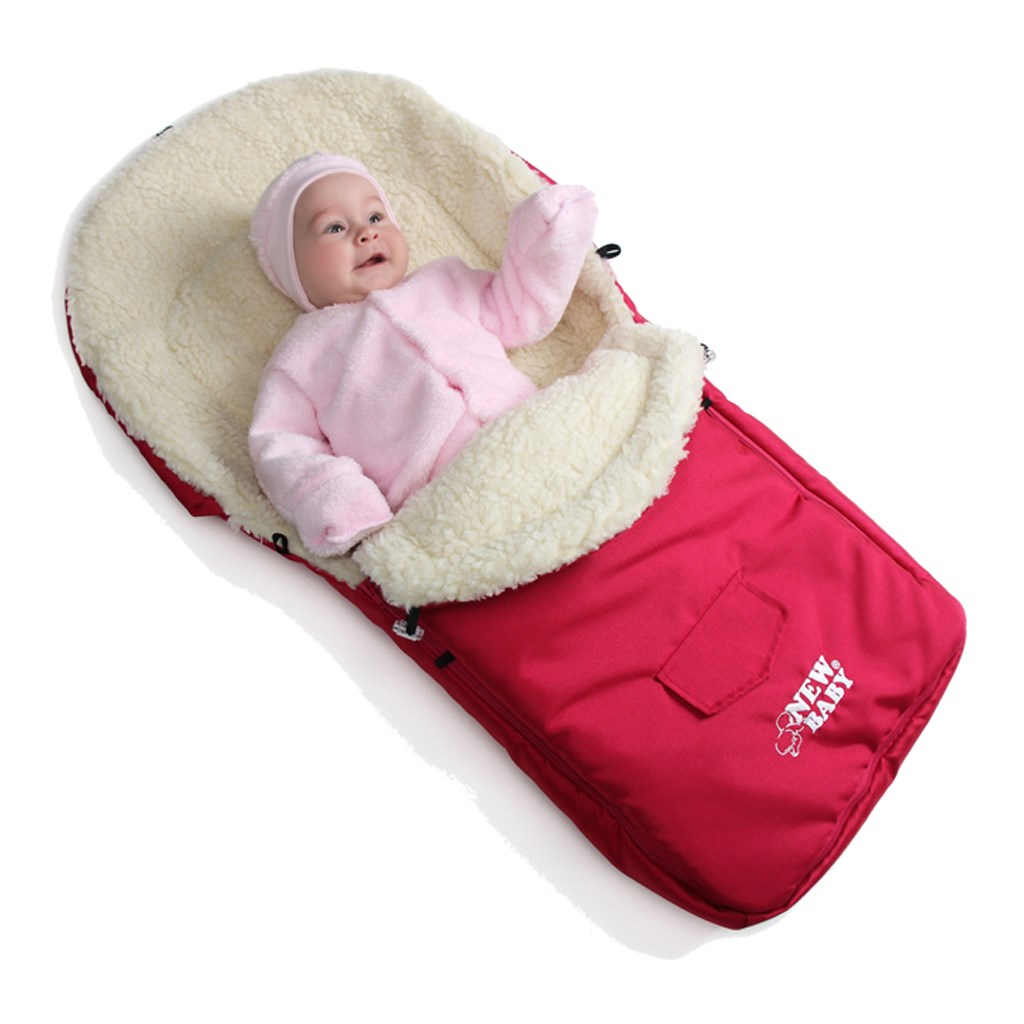 Zimný fusak New Baby Classic Wool pink