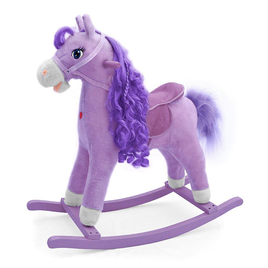 Hojdací koník s melódiou Milly Mally Princess violet