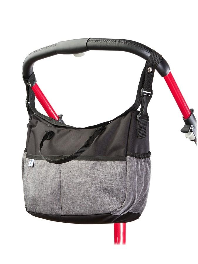 Taška na kočík CARETERO Deluxe black-grey