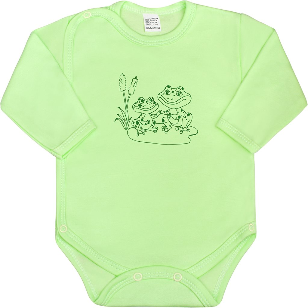 Dojčenské body celorozopínacie New Baby Malé Zvieratká zelené