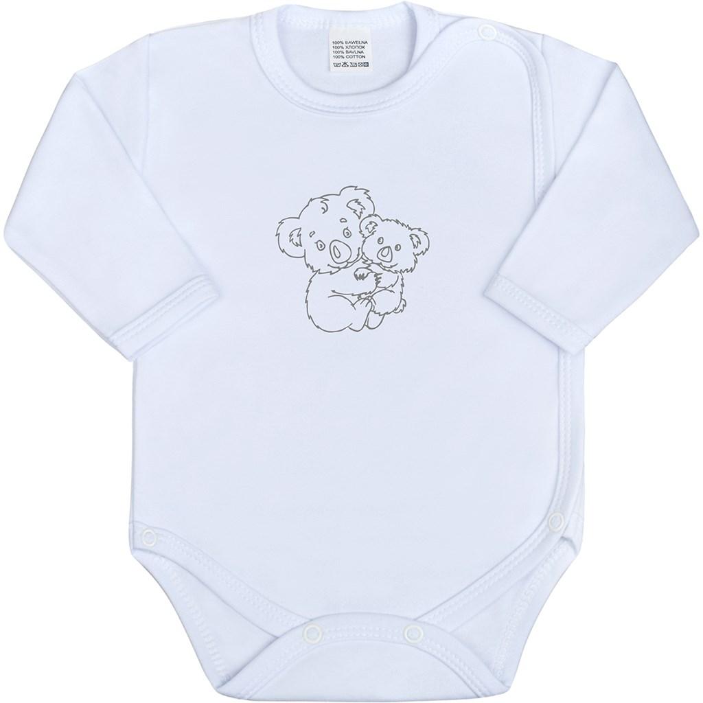 Dojčenské body celorozopínacie New Baby Malé Zvieratká biele