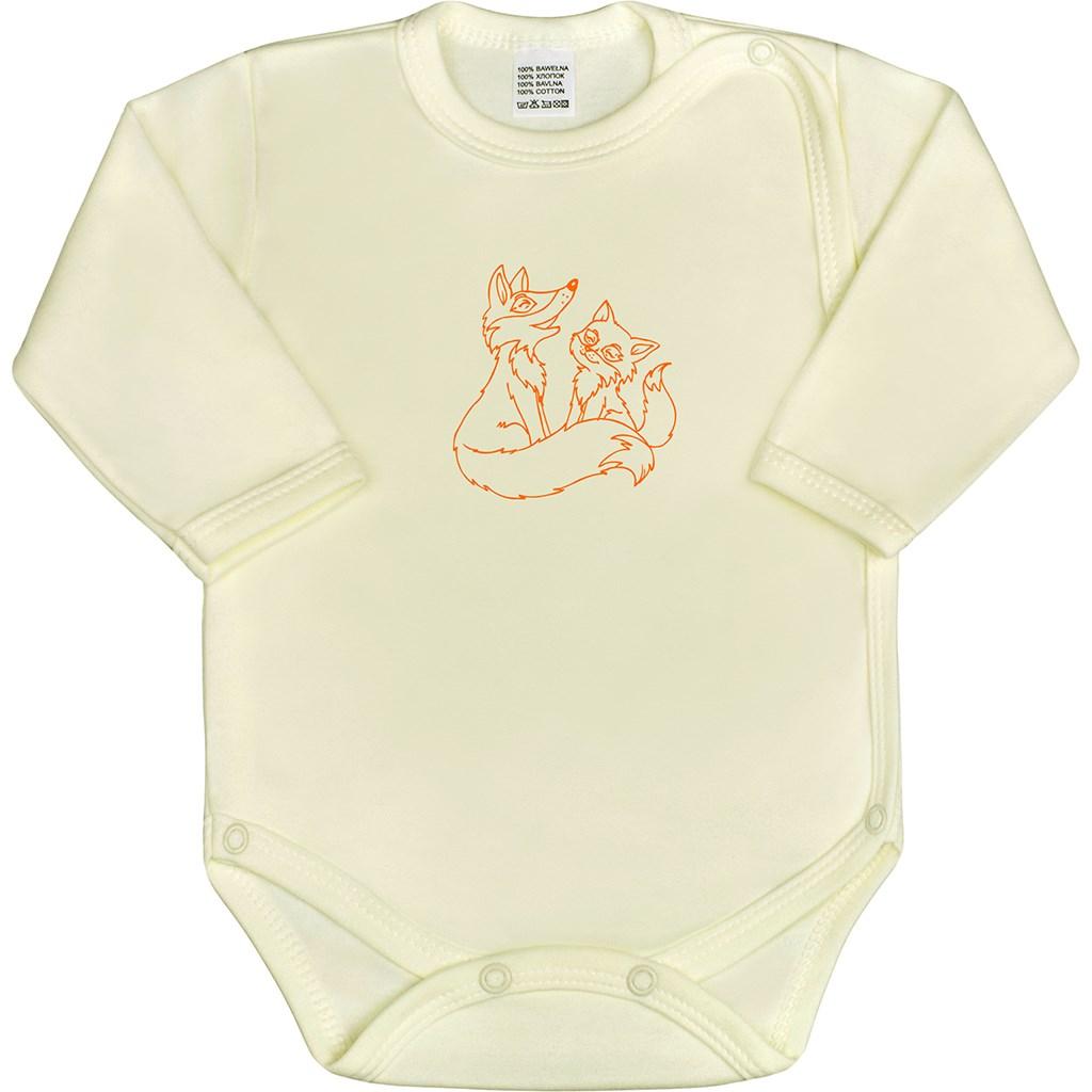 Dojčenské body celorozopínacie New Baby Malé Zvieratká béžové