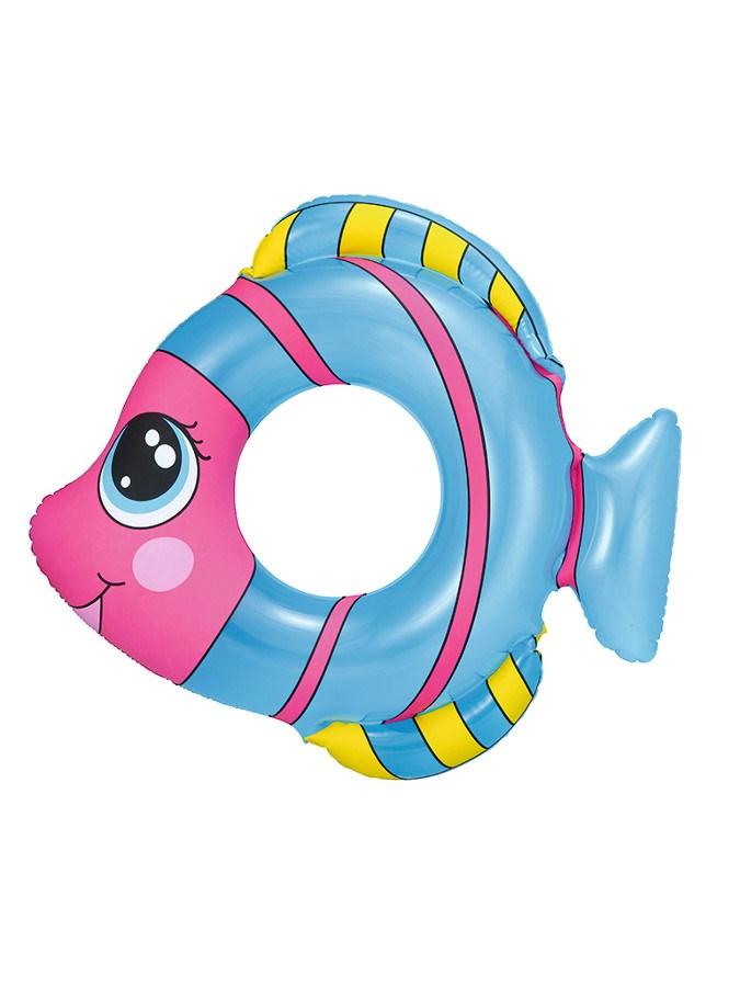 Detský nafukovací kruh Bestway v tvare rybky modrý