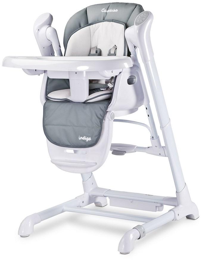 Detská jedálenská stolička 2v1 Caretero Indigo grey