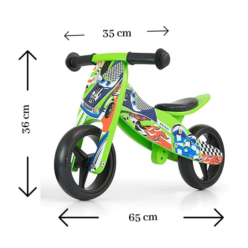 Detské multifunkčné odrážadlo bicykel Milly Mally JAKE green