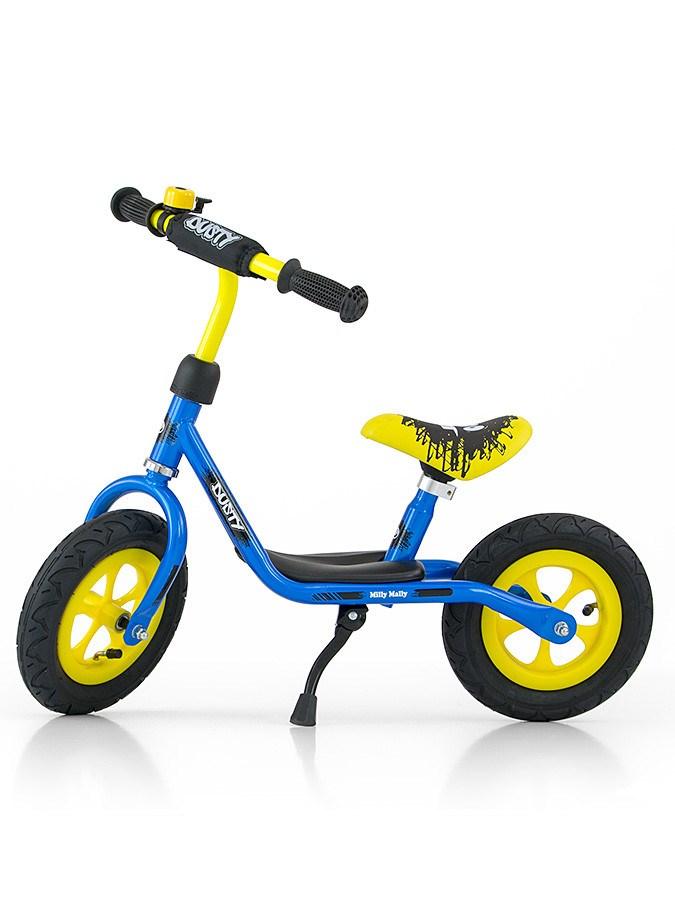 """Detské odrážadlo bicykel Milly Mally Dusty blue 10"""""""