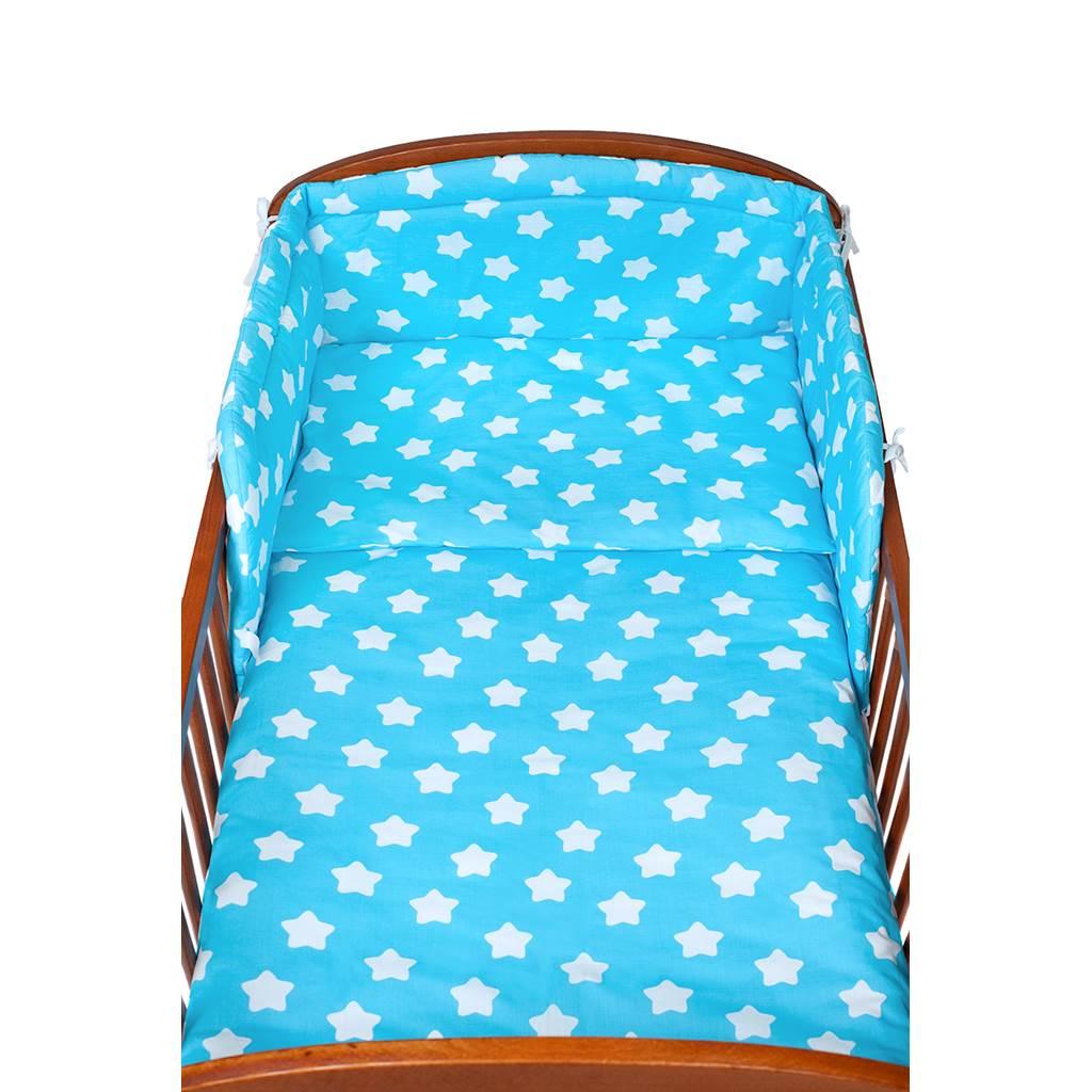 3-dielne posteľné obliečky New Baby 90/120 cm hviezdičky tyrkysové