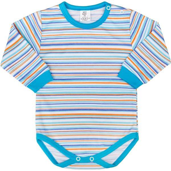 Dojčenské body s dlhým rukávom New Baby Puppik 2 tyrkysové