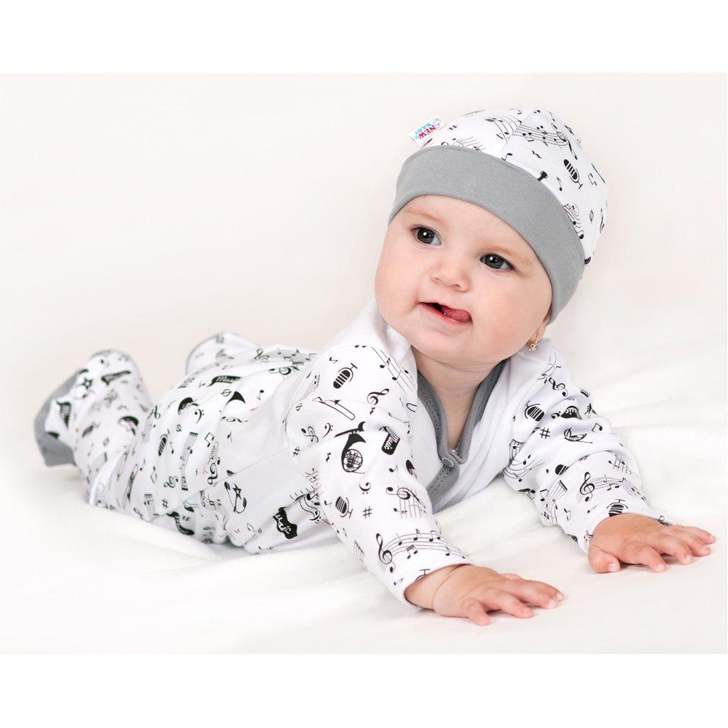 Dojčenské bavlnené polodupačky New Baby Music