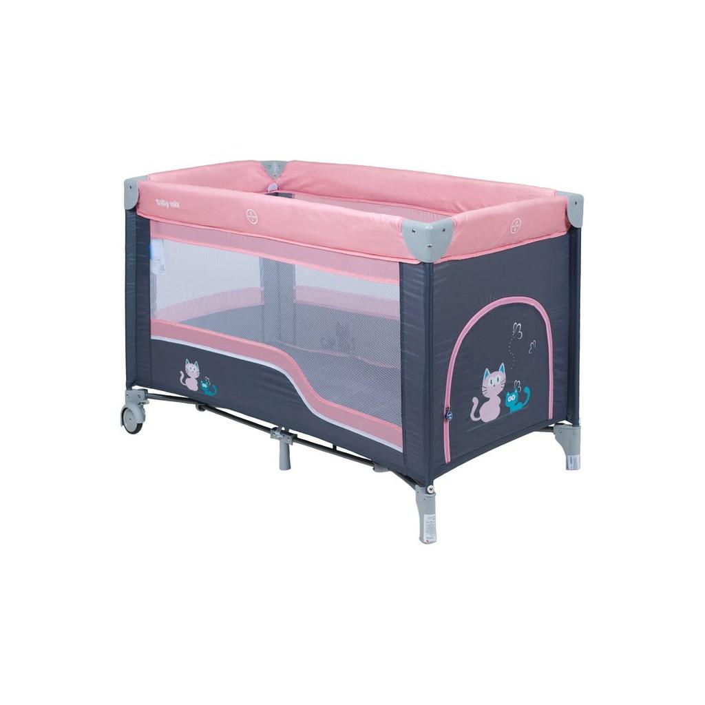 Detská cestovná postieľka Baby Mix dark pink