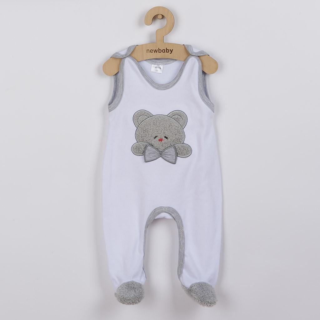 Luxusné dojčenské dupačky New Baby Honey Bear s 3D aplikáciou-56 (0-3m)
