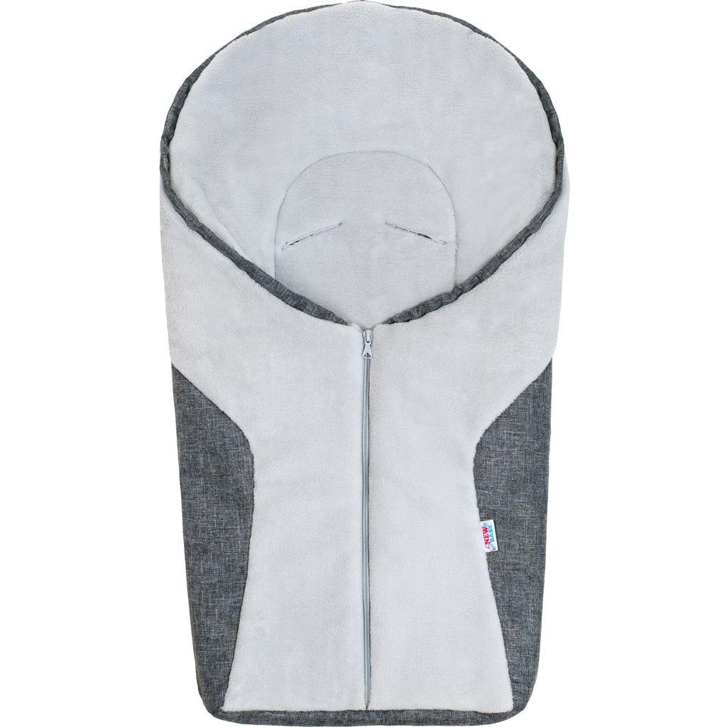 Luxusný zimný fusak New Baby Car grey