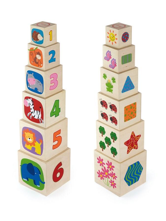 Drevená pyramida pre deti Viga