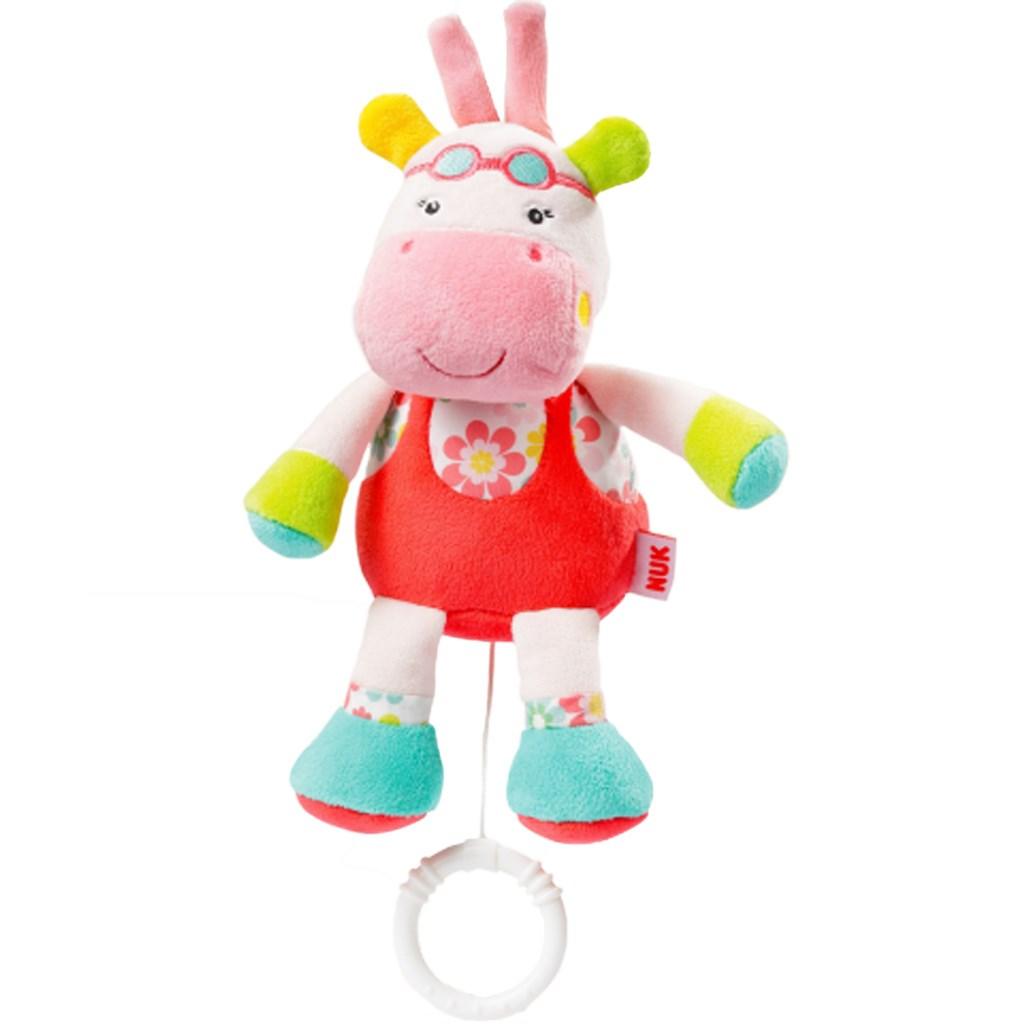 Detská plyšová hrajúca hračka Nuk hrošík, Červená
