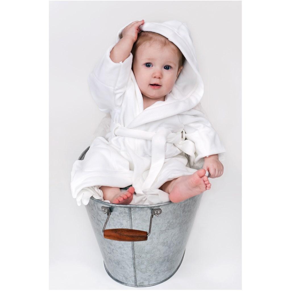 Detský župan New Baby Sovičky sivý