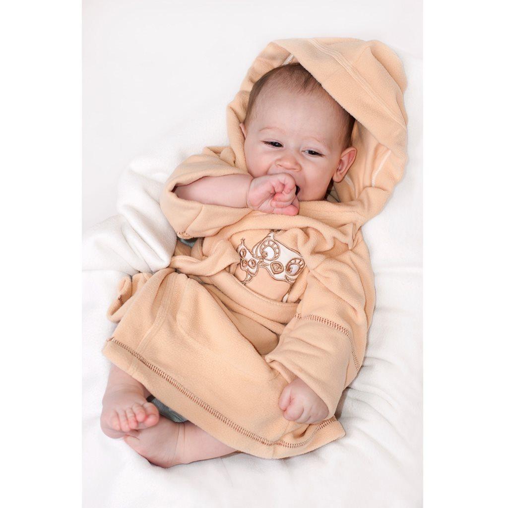 Detský župan New Baby Sovičky hnedý