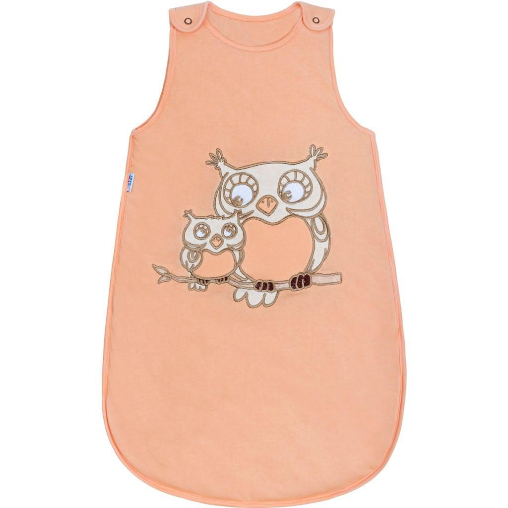 Spací vak New Baby Sovičky oranžový-104 (3-4r)