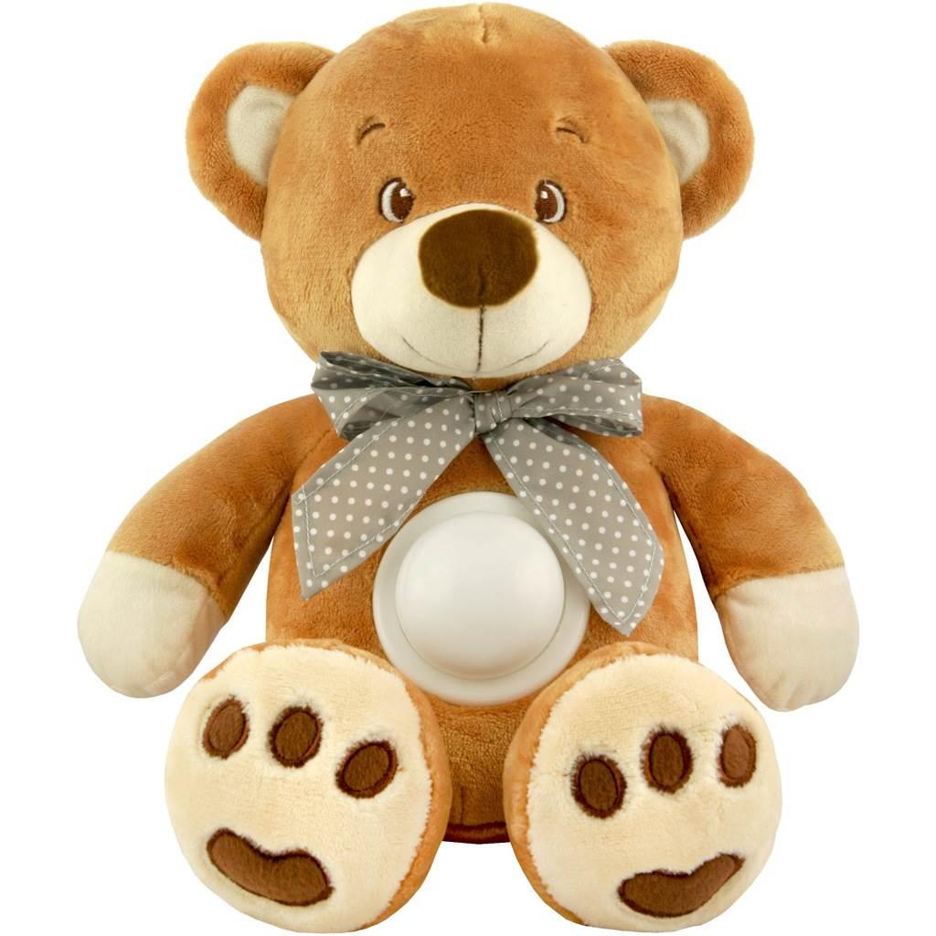 Plyšový medvedík s projektorom Baby Mix hnedý