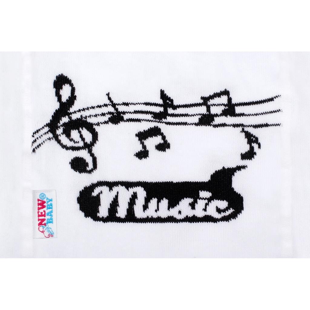 Bavlnené pančucháčky New Baby Music biele