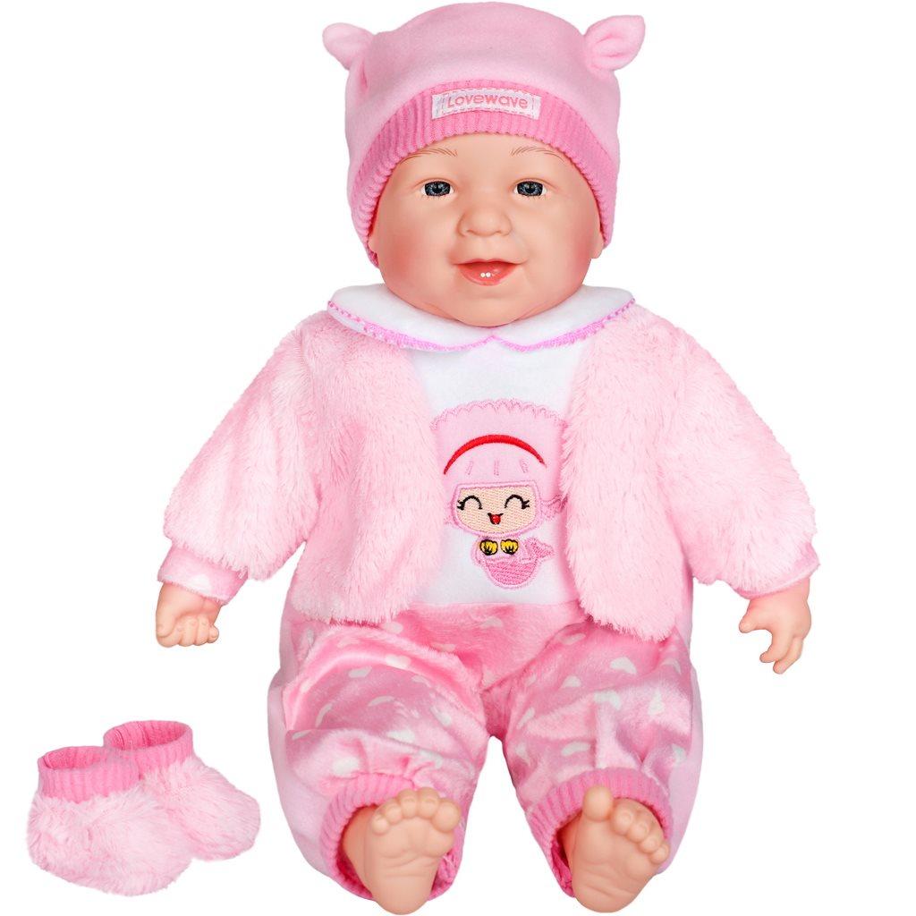 Česky hovoriaca a spievajúca detská bábika PlayTo Nelinka 46 cm