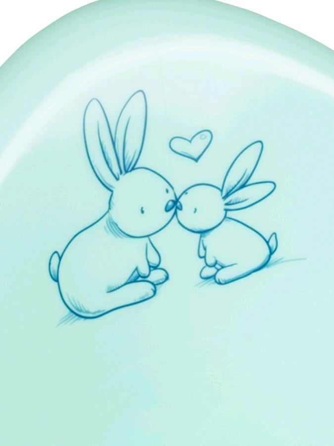 Hrajúci detský nočník s poklopom Bunny mätový