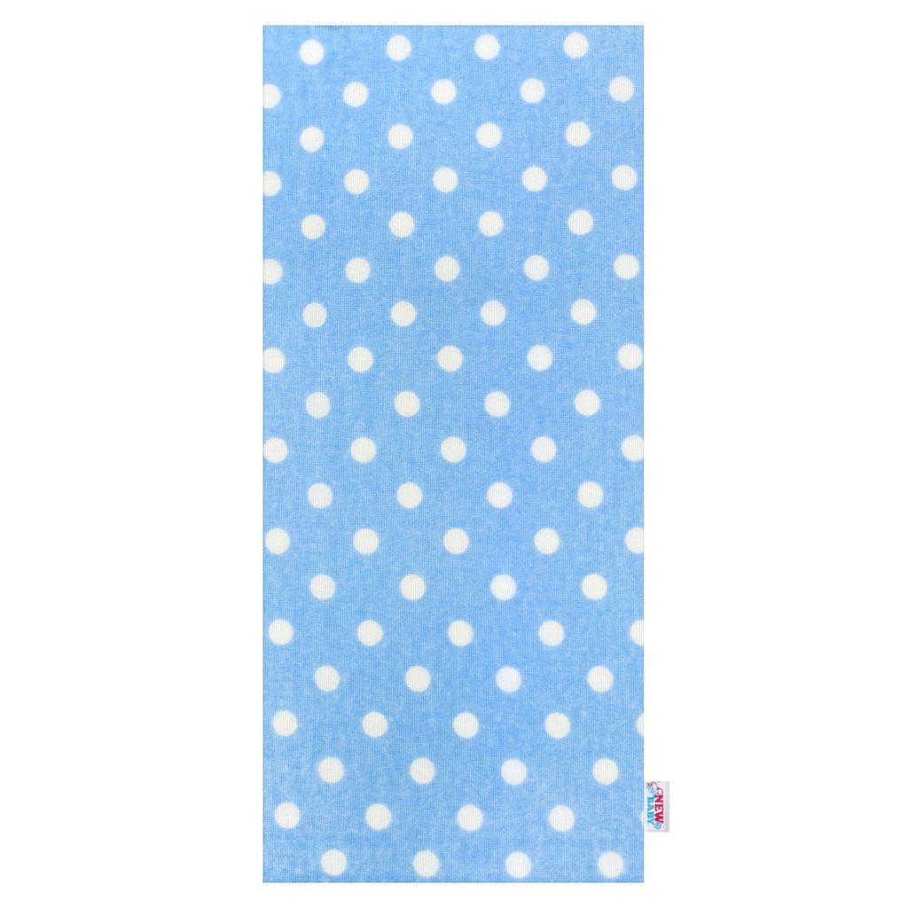 Flanelová plienka s potlačou New Baby modrá s bodkami