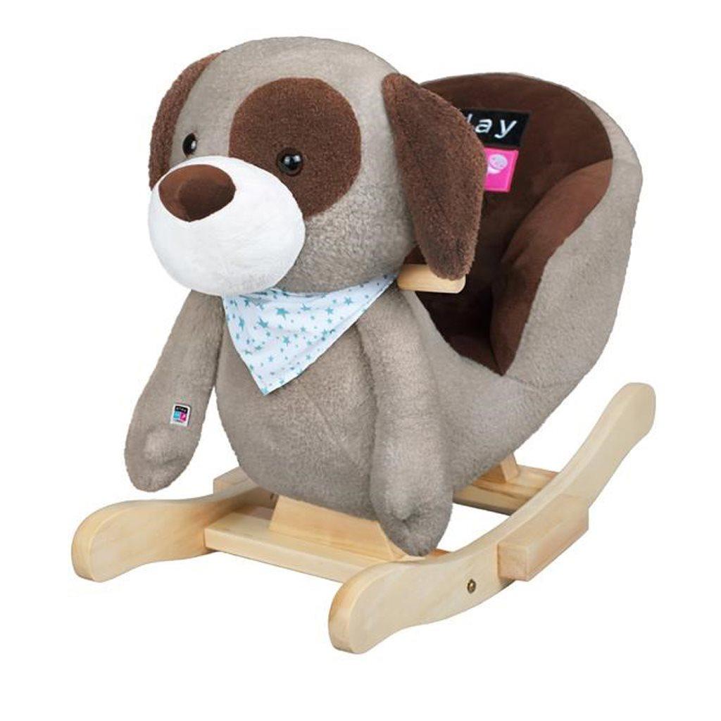 Hojdacia hračka s melódiou PlayTo psík sivo-hnedý