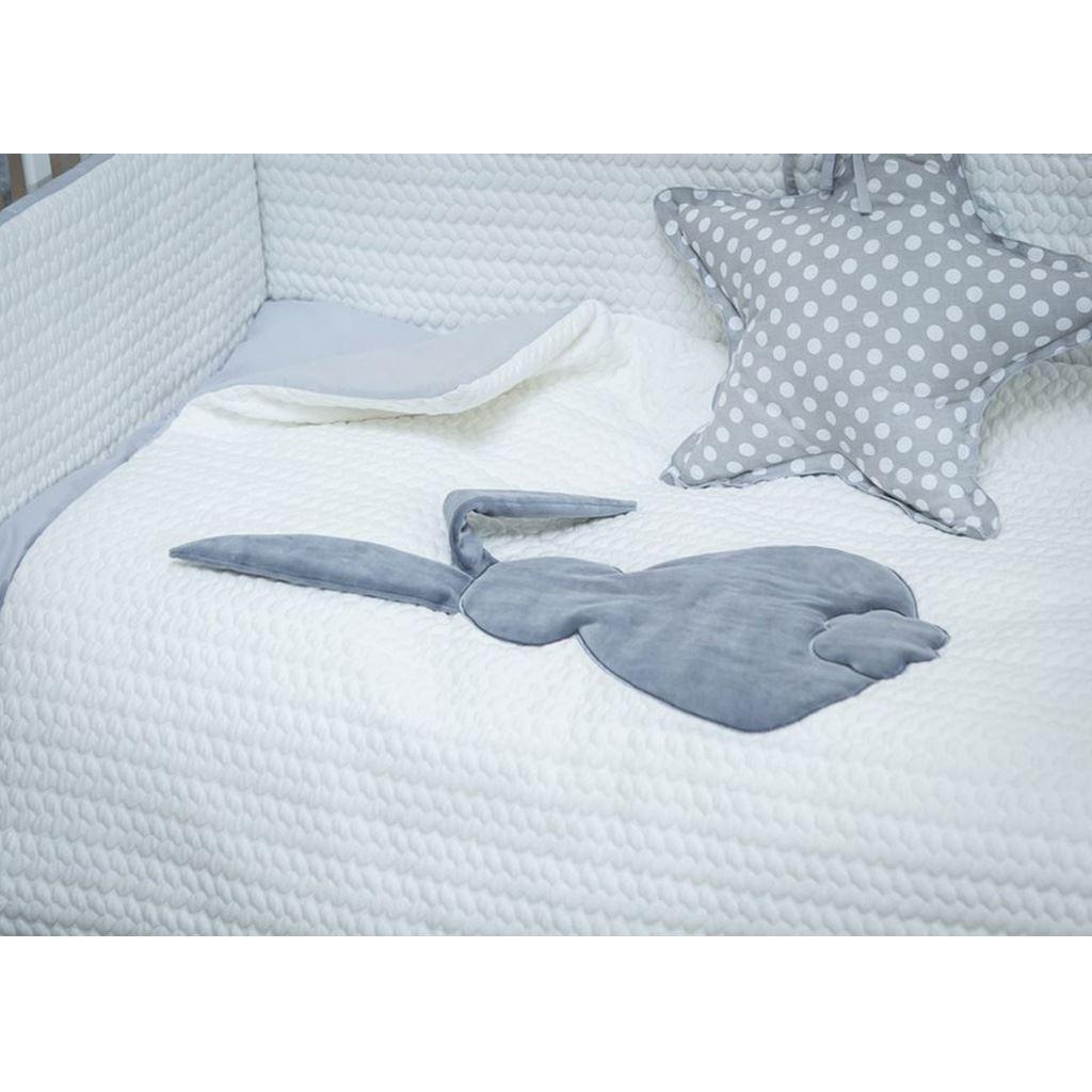 3-dielne posteľné obliečky Belisima Králiček 100/135 bielo-sivé