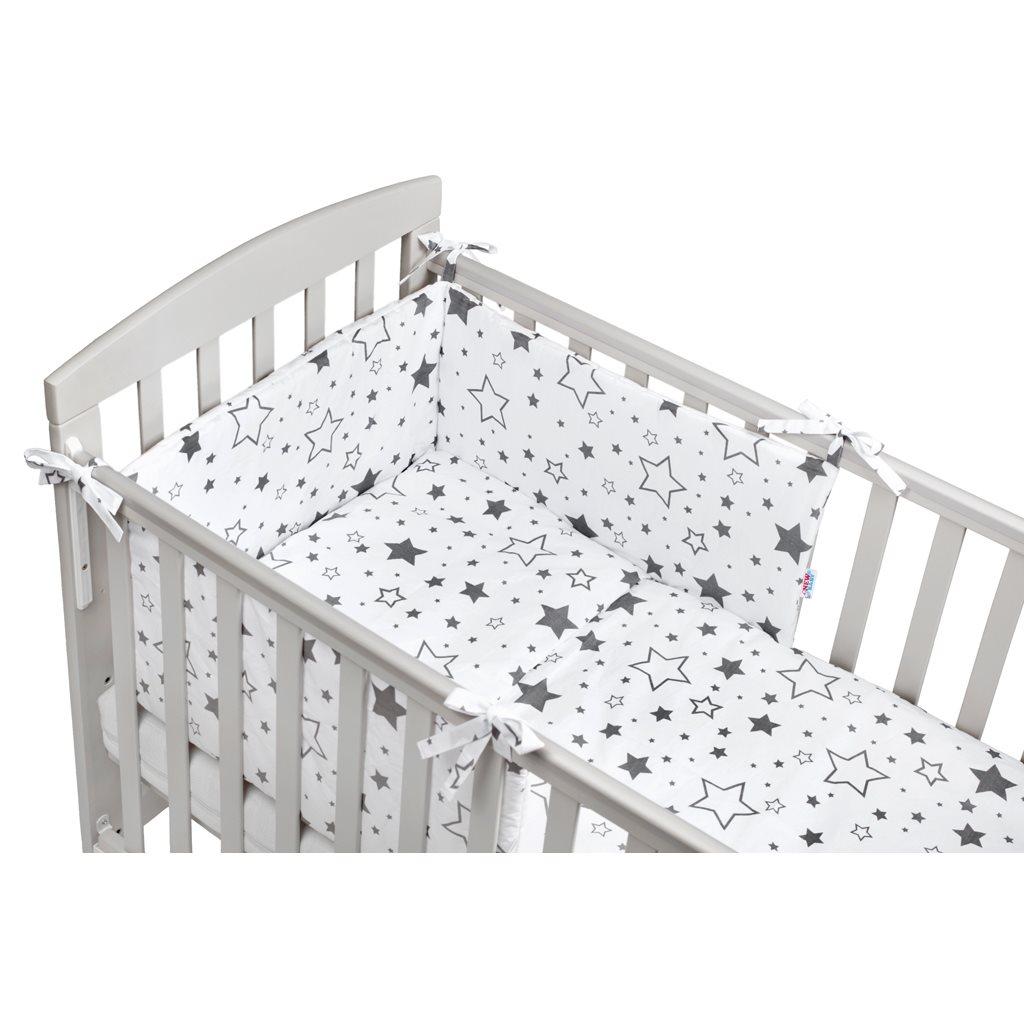 3-dielne posteľné obliečky New Baby 90/120 cm hviezdy sivé