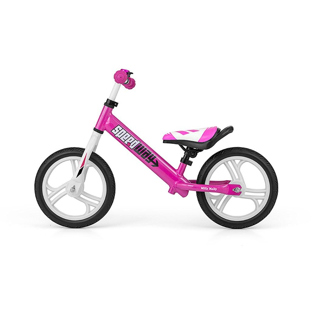 """Detské odrážadlo bicykel Milly Mally Speedway 12"""" pink"""