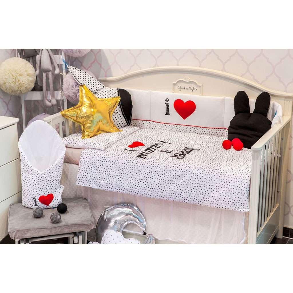 3-dielne posteľné obliečky Belisima I love 90/120  biele
