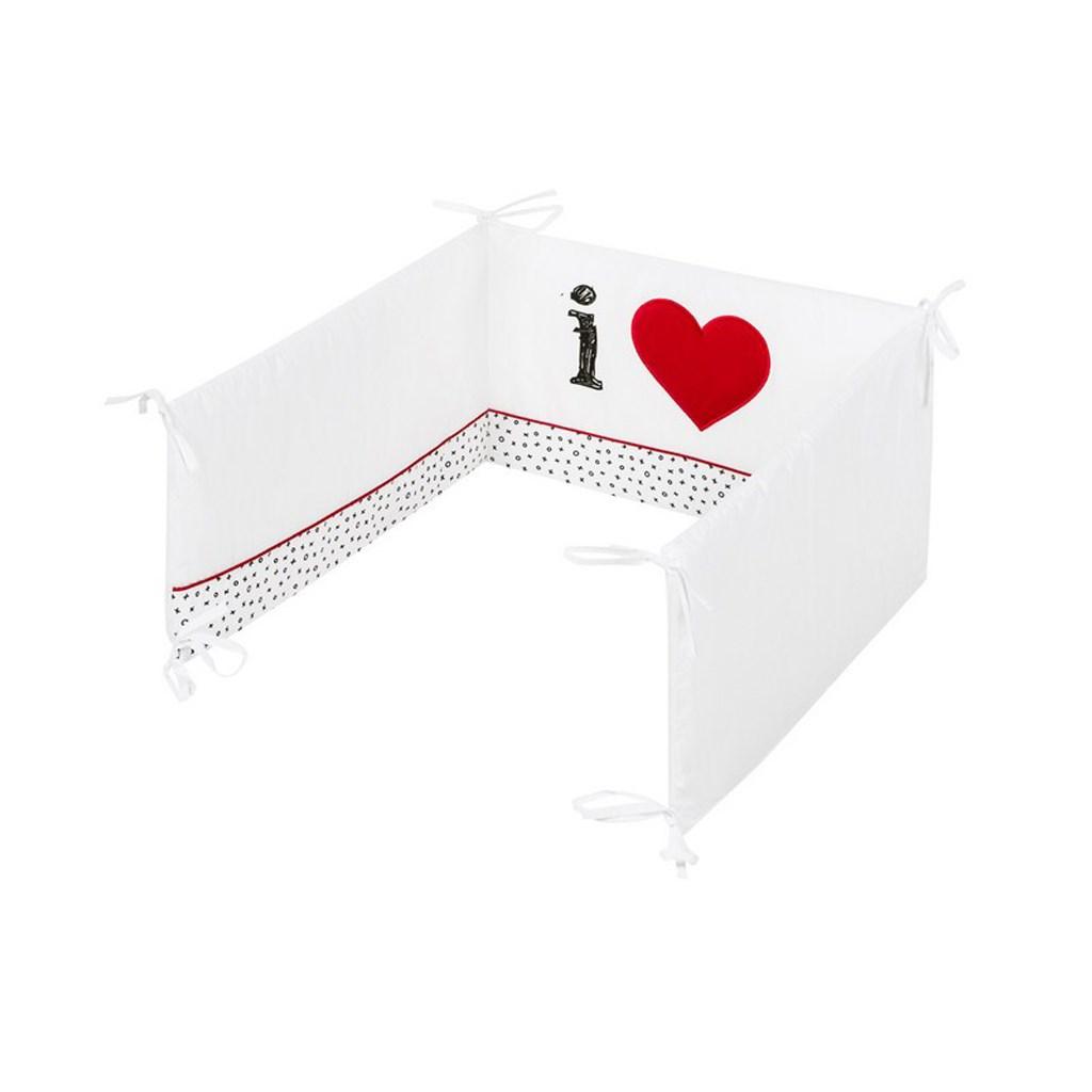 5-dielne posteľné obliečky Belisima I love 90/120 biele