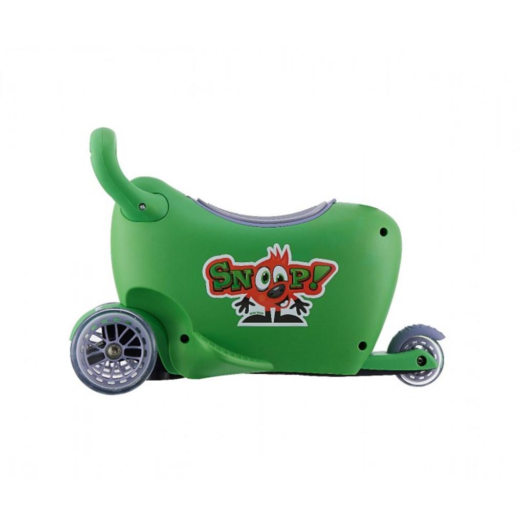 Detské odrážadlo s vodiacou tyčou Snoop 3v1 Milly Mally green