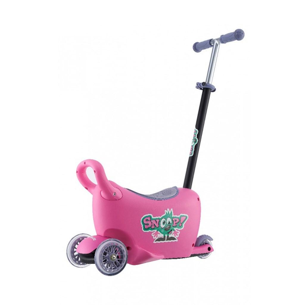 Detské odrážadlo s vodiacou tyčou Snoop 3v1 Milly Mally pink