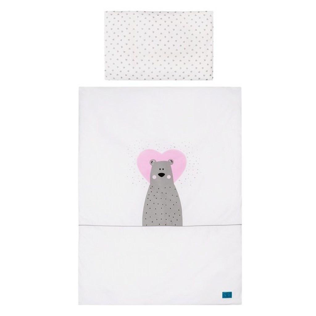 5-dielne posteľné obliečky Belisima Bear in love 90/120 ružové
